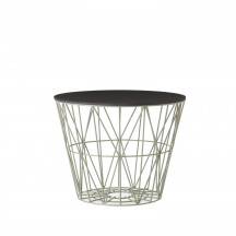 Ferm Living Wire Basket Table small dusty green