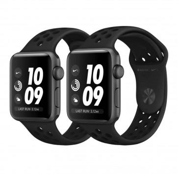 Apple Watch Series 3 Nike+ spacegrijs aluminium met antraciet/zwart Nike sportbandje