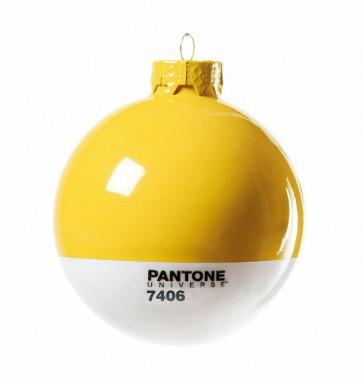 Pantone Universe kerstbal geel