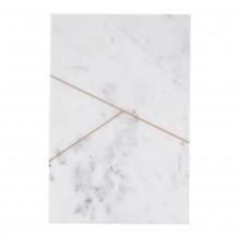 House Doctor langwerpig serveerbord marmer wit/goud