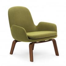 Normann Copenhagen Era Lounge Chair Low walnoot