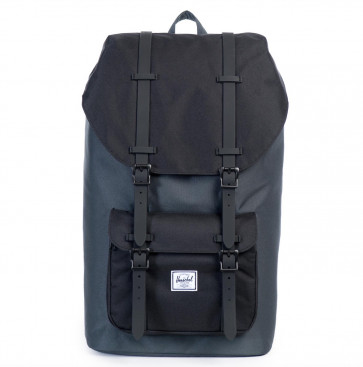 Herschel rugzak Little America Dark Shadow Black Rubber