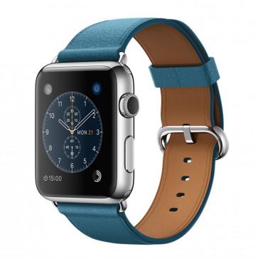 Apple Watch roestvrij staal 42mm marineblauw bandje klassieke gesp