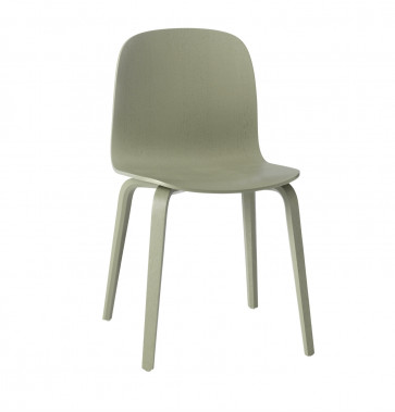Muuto Visu Chair Wood Frame dusty green