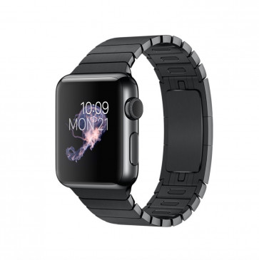 Apple Watch spacezwart roestvrij staal 38mm spacezwarte schakelarmband