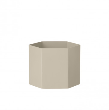 Ferm Living Hexagon pot grijs XL