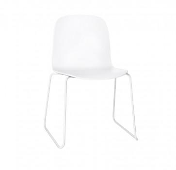 Muuto Visu Chair Sled Base wit