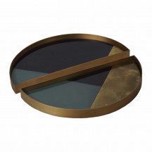 Ethnicraft Geometric half-moon trays