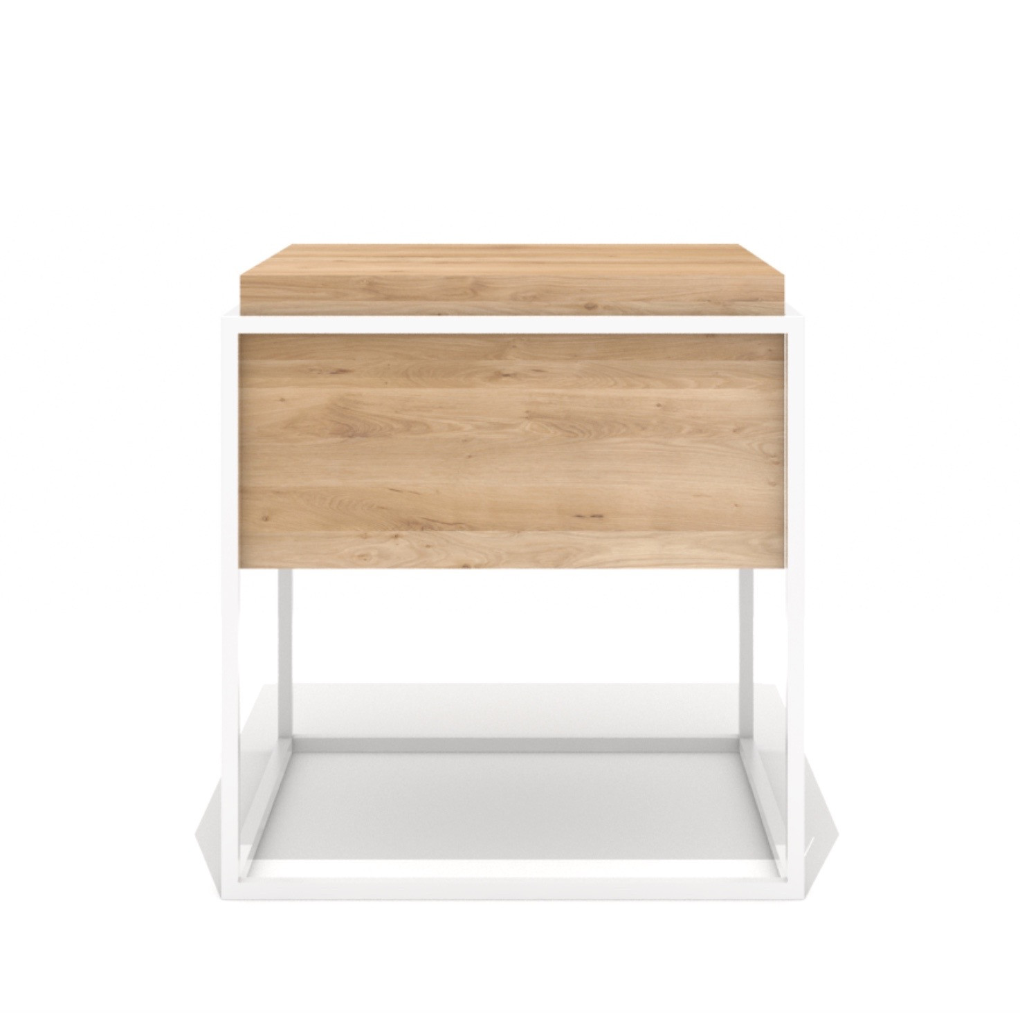 Sidetable Wit Strak.Universo Positivo Monolit Side Table Medium Wit