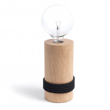 The Oak Men Log lamp eik zwart