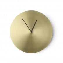 Menu Norm Wall Clock brushed brass