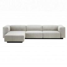 Vitra Soft Modular 3-zitsbank met chaise longue