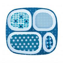 Sebra 4-delig melamine bord blauw