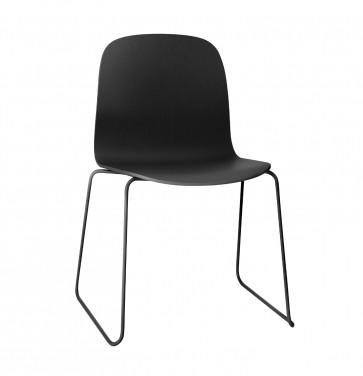 Muuto Visu Chair Sled Base zwart