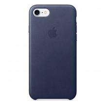 Apple iPhone 8/7 leren hoesje middernachtblauw