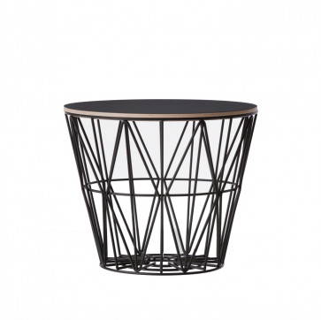 Ferm Living Wire Basket Table medium zwart