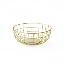 Menu Norm Wire Bowl brass