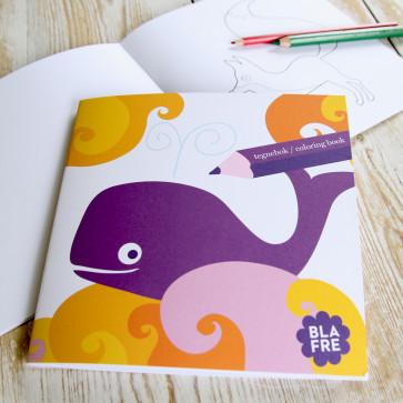 Blafre teken- en kleurboek walvis