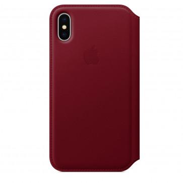 Apple iPhone X leren folio-hoesje PRODUCT(RED)