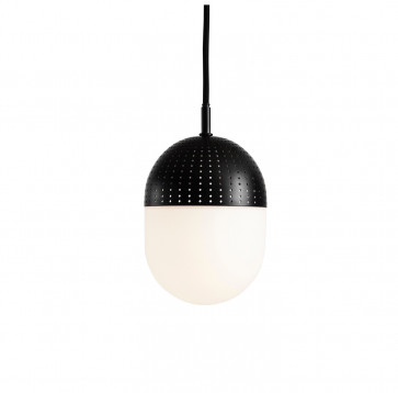 Woud Dot Pendant medium zwart