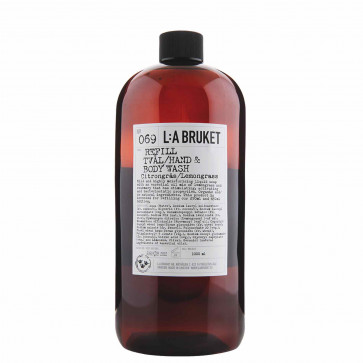 L:A Bruket 069 vloeibare zeep refill citroengras