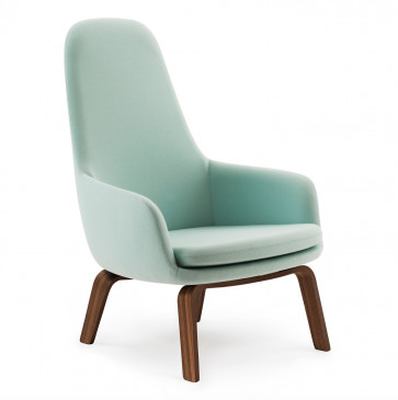 Normann Copenhagen Era Lounge Chair High walnoot