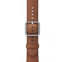 Apple Watch leren bandje met klassieke gesp zadelbruin