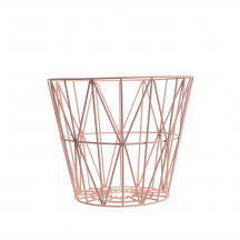Ferm Living Wire Basket Table medium roze