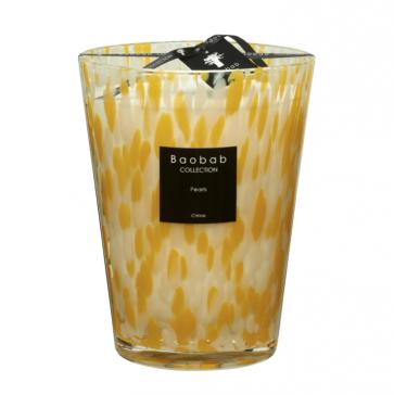 Baobab geurkaars citrine Pearls max 24