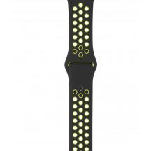 Apple Watch sportbandje van Nike zwart/volt