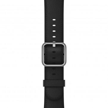 Apple Watch leren bandje met klassieke gesp zwart