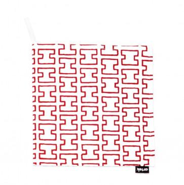 Artek H55 pannenlap wit/rood