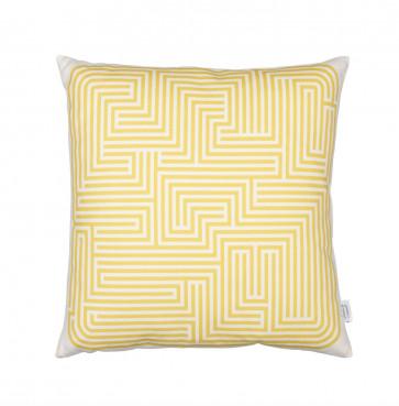 Vitra Graphic Print kussen Maze mosterdgeel