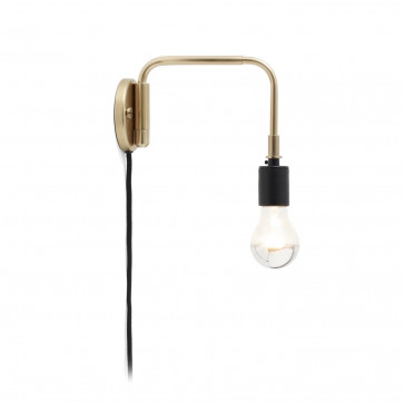 Menu Staple wandlamp brass