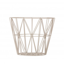 Ferm Living Wire Basket large grijs