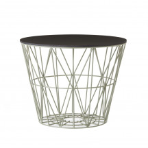 Ferm Living Wire Basket Table large dusty green