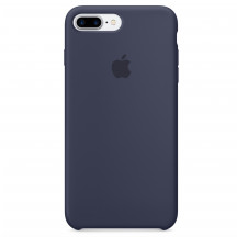 Apple iPhone 8 Plus/7 Plus siliconenhoesje middernachtblauw