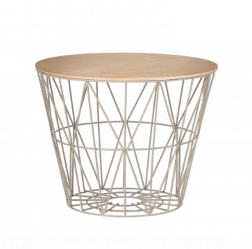 Ferm Living Wire Basket Table large grijs