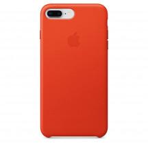Apple iPhone 8 Plus/7 Plus leren hoesje feloranje