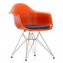 Vitra Eames Plastic Chair DAR met zitkussen