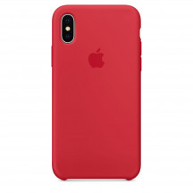 Apple iPhone X siliconenhoesje frambozenrood
