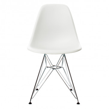 Vitra Eames Plastic Side Chair DSR chroom