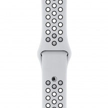 Apple Watch sportbandje van Nike platina/zwart