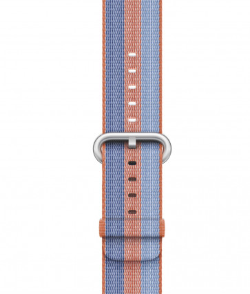 Apple Watch bandje van geweven nylon oranje
