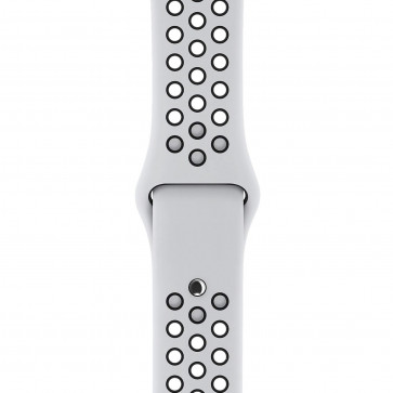 Apple Watch sportbandje van Nike platina/zwart