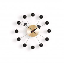 Vitra Ball Clock zwart/messing