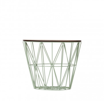 Ferm Living Wire Basket Table small munt