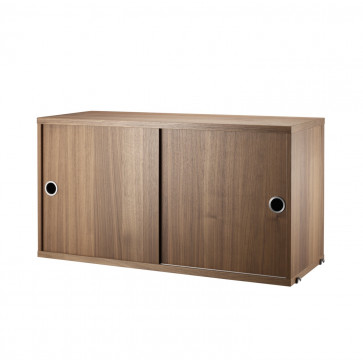 String Cabinet kast walnoot