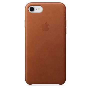 Apple iPhone 8/7 leren hoesje zadelbruin