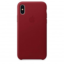 Apple iPhone X leren hoesje PRODUCT(RED)